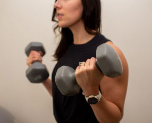 Megan Lifting Weights - Registered Dietitian